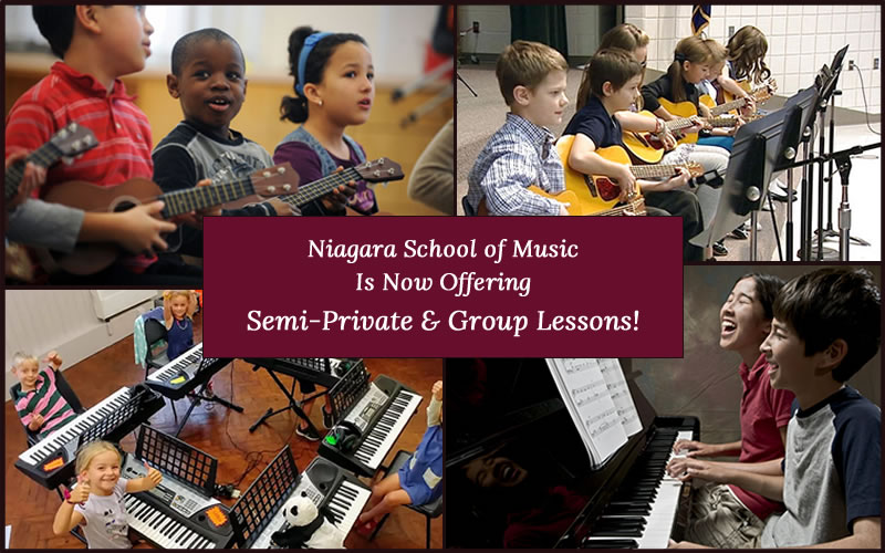 Semi-Private and Group Lessons - Niagara School of Music
