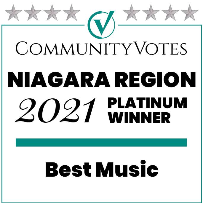 Best Music School in Niagara Region - Platinum Award